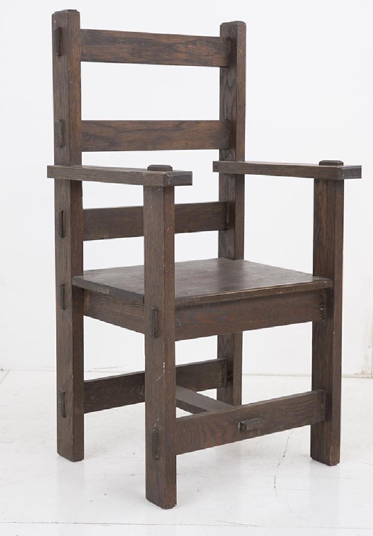 Unusual Arts & Crafts Arm Chair - 2