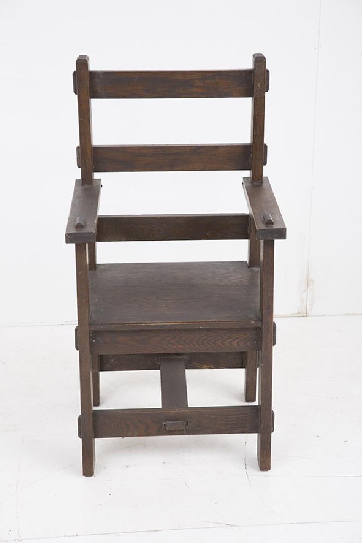 Unusual Arts & Crafts Arm Chair - 5