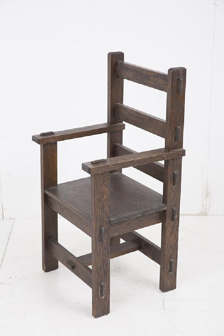 Unusual Arts & Crafts Arm Chair - 6