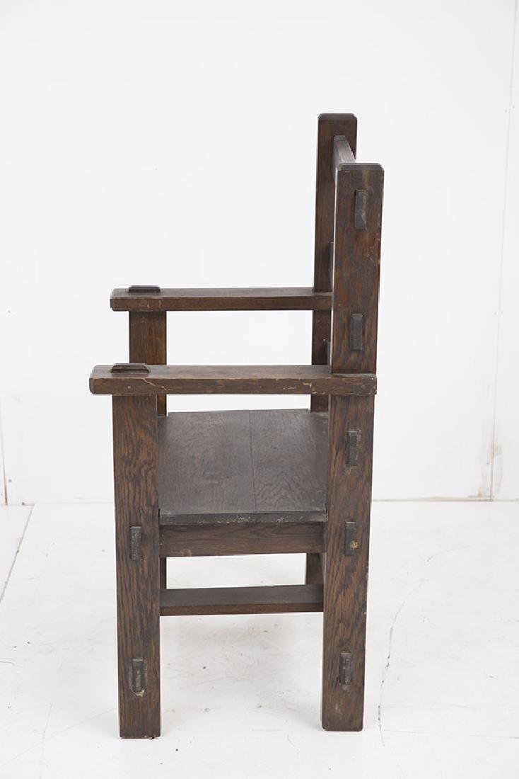 Unusual Arts & Crafts Arm Chair - 7