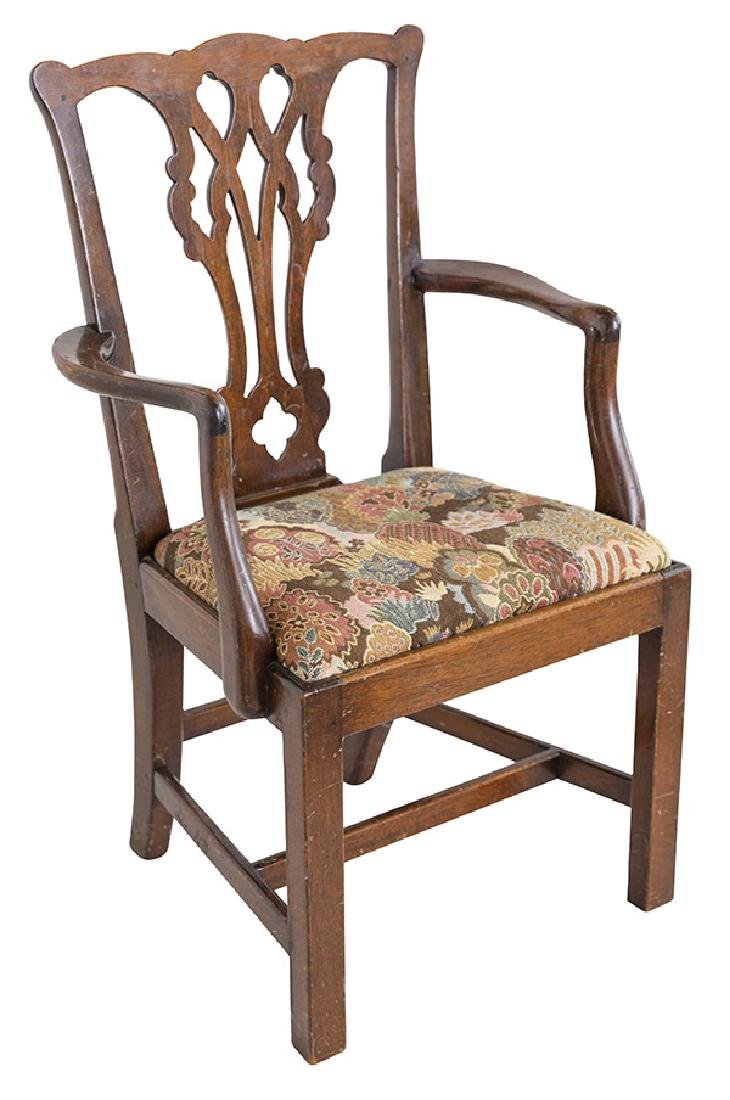 Miniature Chippendale Style Arm Chair