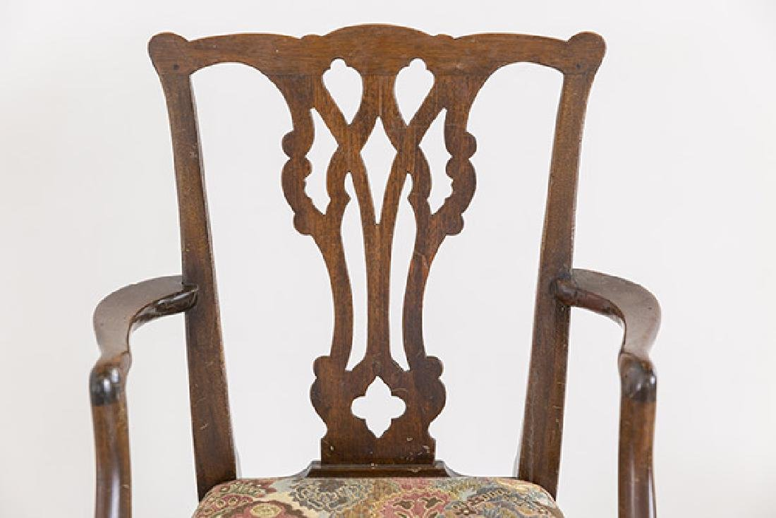 Miniature Chippendale Style Arm Chair - 3