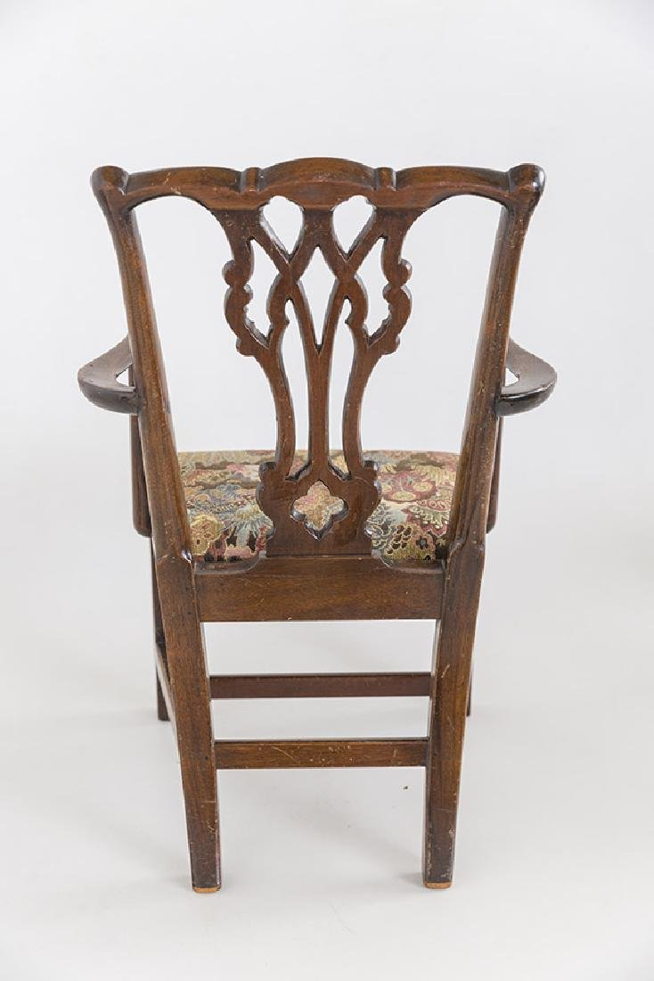 Miniature Chippendale Style Arm Chair - 4