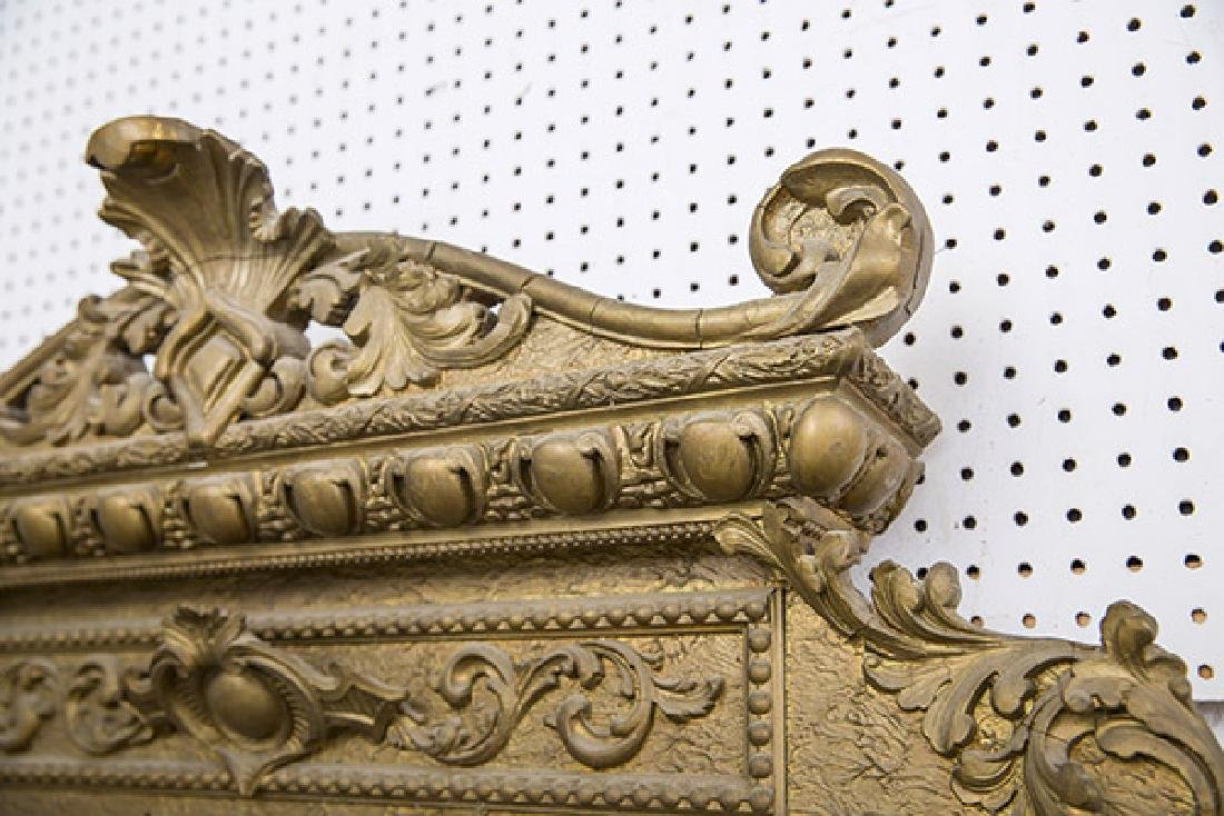 Large Heavily Carved Gesso Frame Mirror - 3