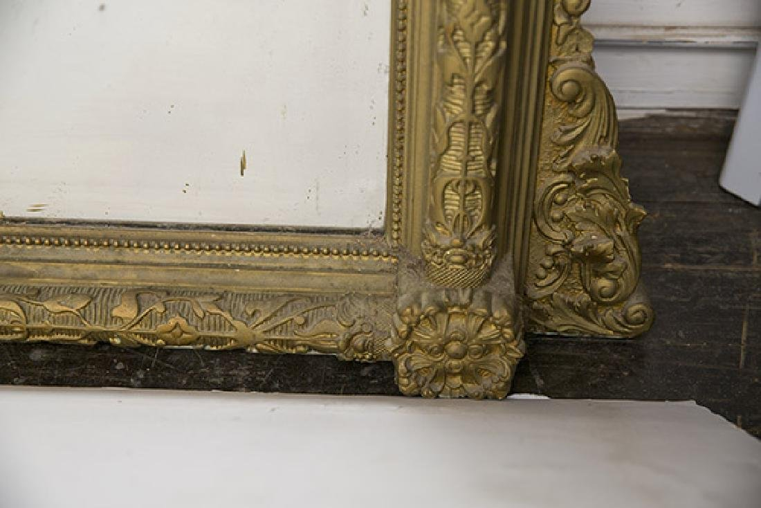Large Heavily Carved Gesso Frame Mirror - 7