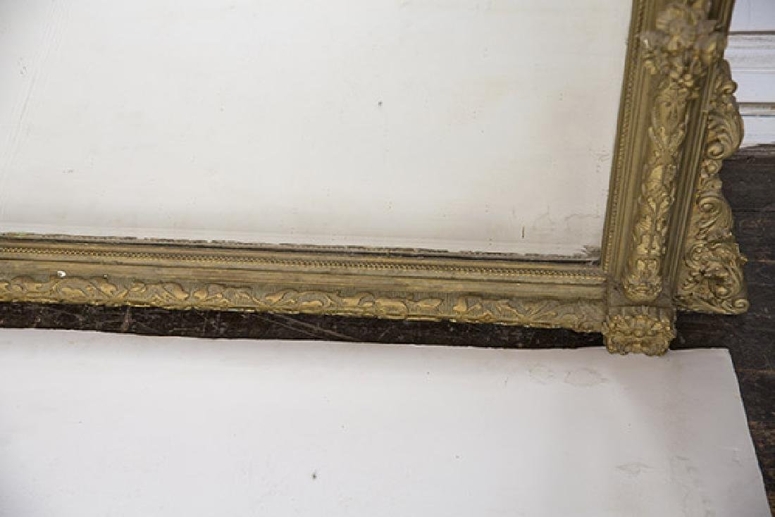 Large Heavily Carved Gesso Frame Mirror - 8