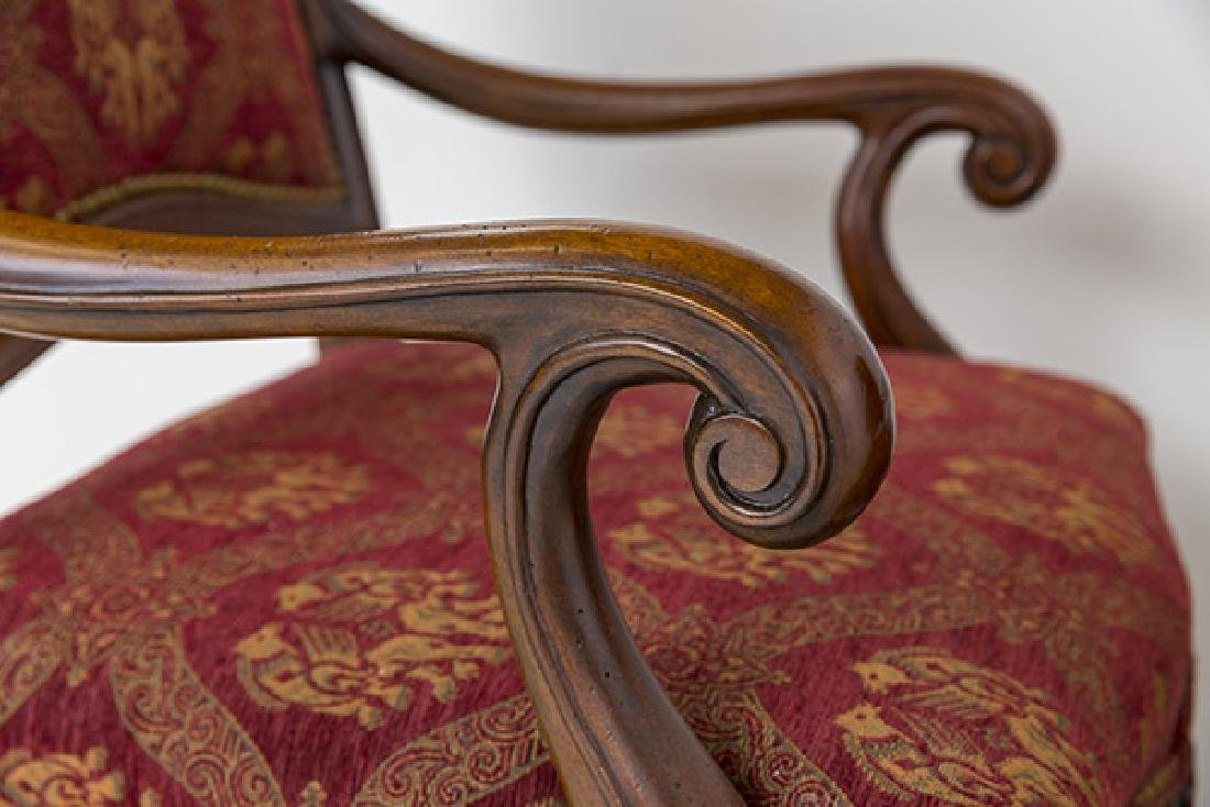 Country French High-Back Throne Chairs - 10