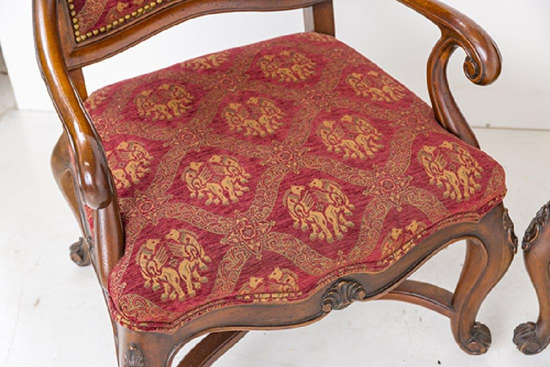 Country French High-Back Throne Chairs - 2