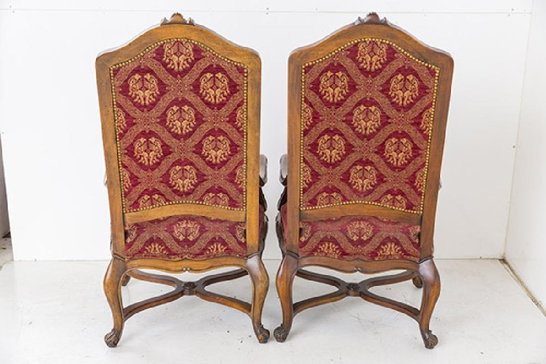 Country French High-Back Throne Chairs - 5