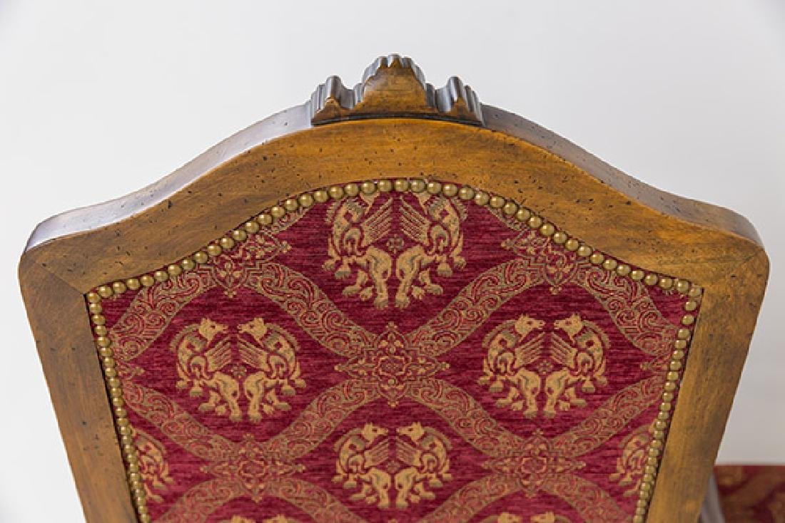 Country French High-Back Throne Chairs - 7