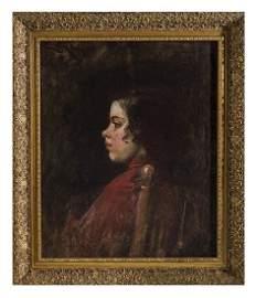 Frank Duveneck (1848-1919) Oil (Cincinnati,KY)