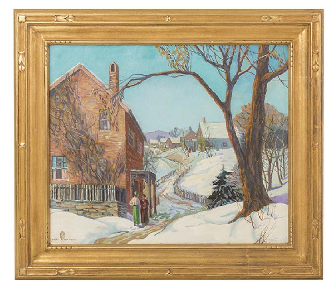 Carl Rudolph Kraft (1884-1938) Oil (Penn, ILL, OH)