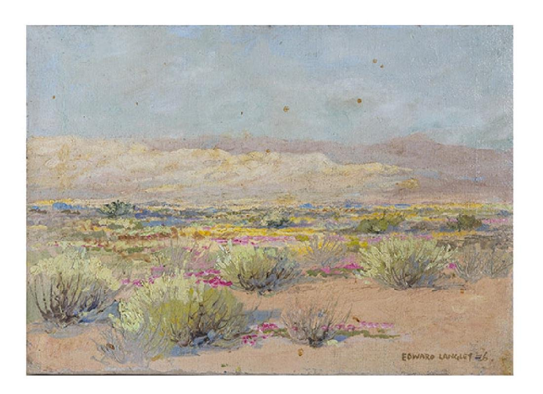 Edward Marion Langley (1870-1949) Oil (California)