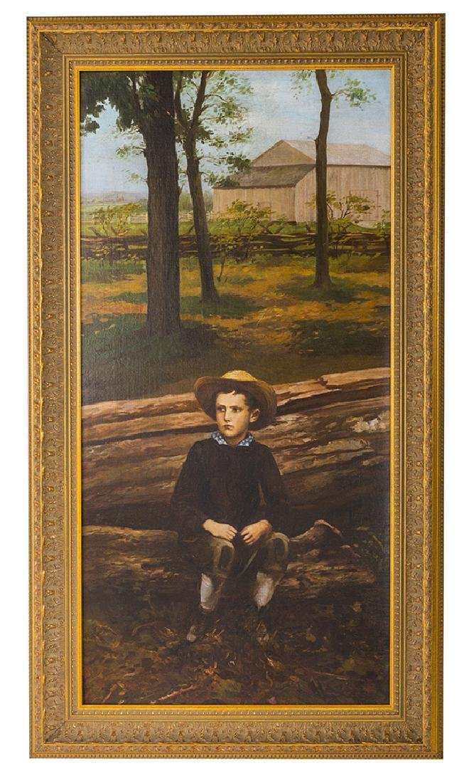 Oil Young Man on  the Farm