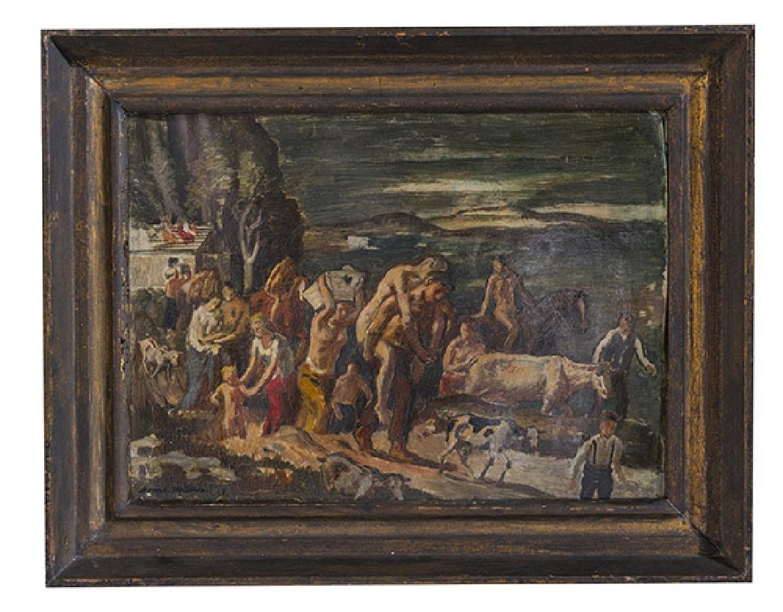 Bernhard Muller (b 1880) Oil (Germany)