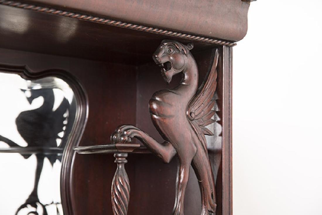 Unusual Winged Griffin Mahogany Side by Side Secretary - 4