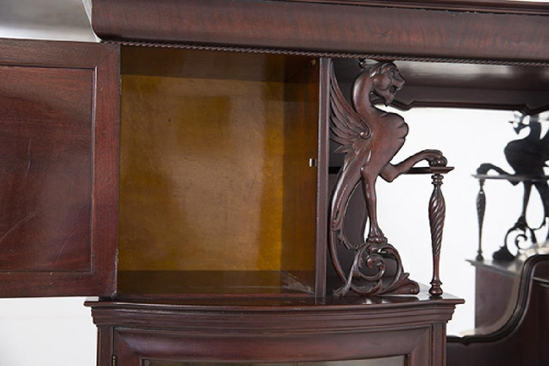 Unusual Winged Griffin Mahogany Side by Side Secretary - 8