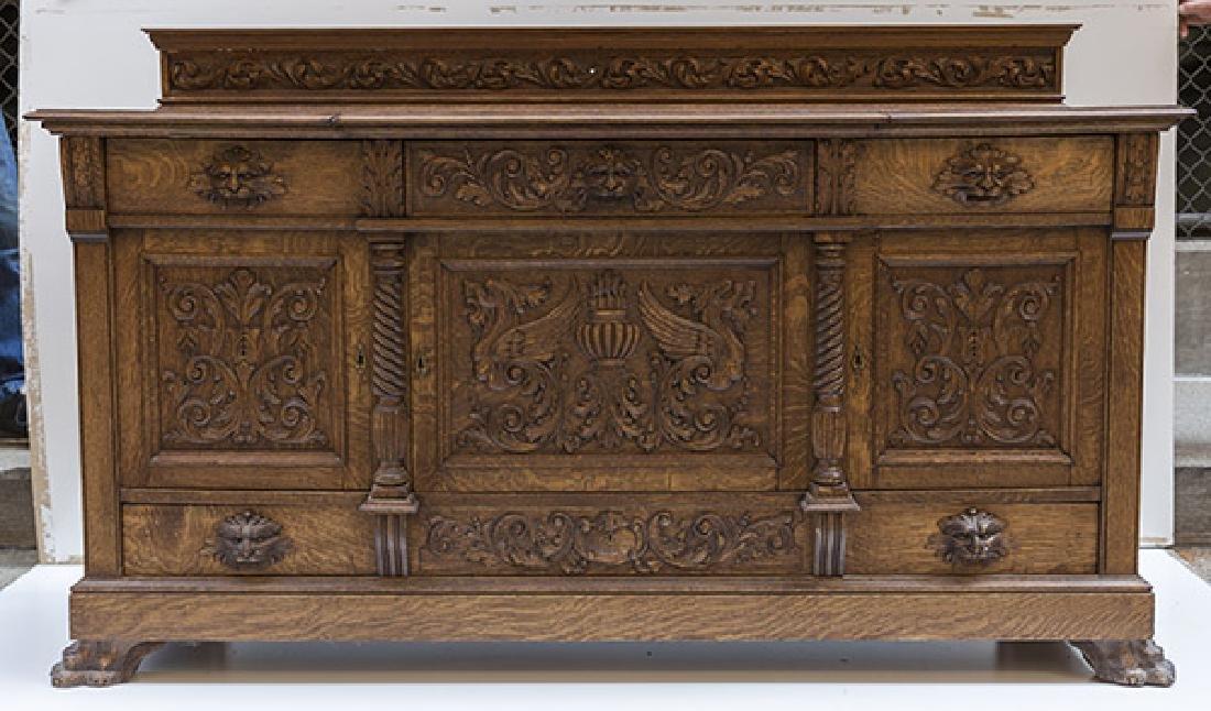 RJ Horner Carved Oak Sideboard - 2