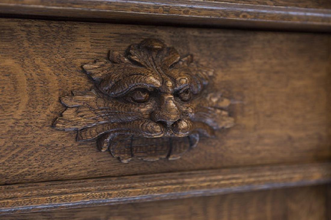 RJ Horner Carved Oak Sideboard - 3