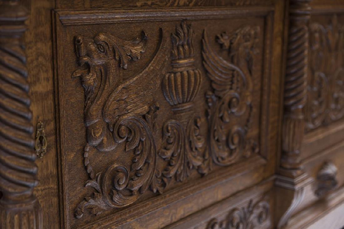 RJ Horner Carved Oak Sideboard - 4