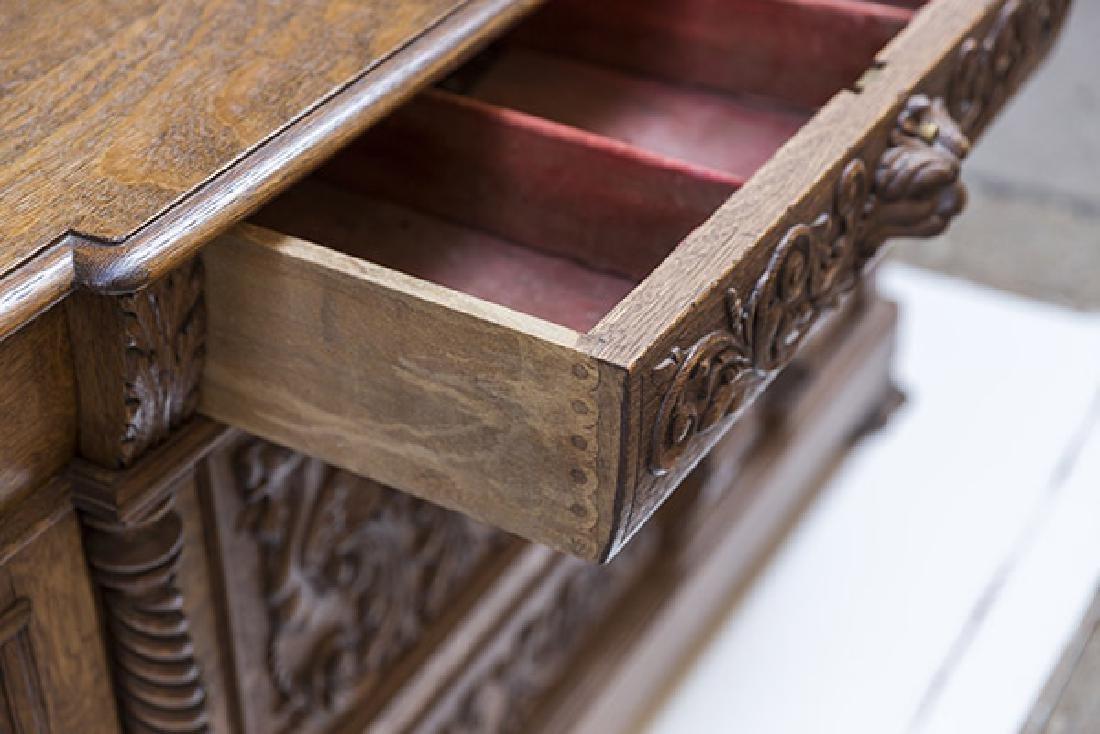 RJ Horner Carved Oak Sideboard - 6