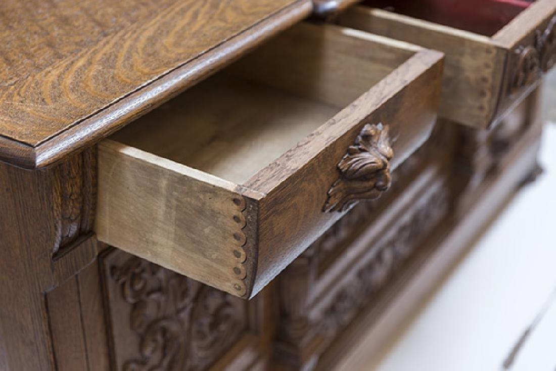 RJ Horner Carved Oak Sideboard - 7