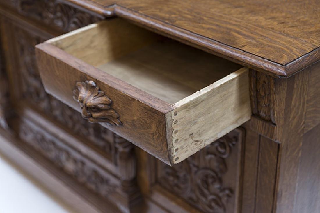 RJ Horner Carved Oak Sideboard - 8