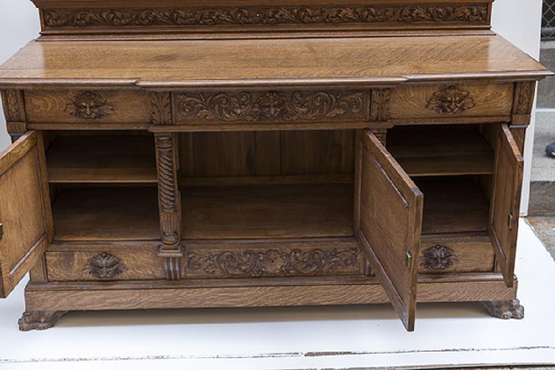 RJ Horner Carved Oak Sideboard - 9