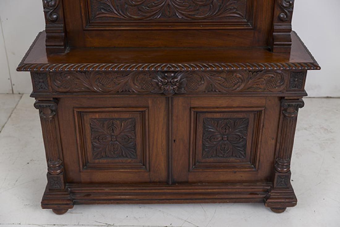Heavily Carved Oak Cabinet - 2