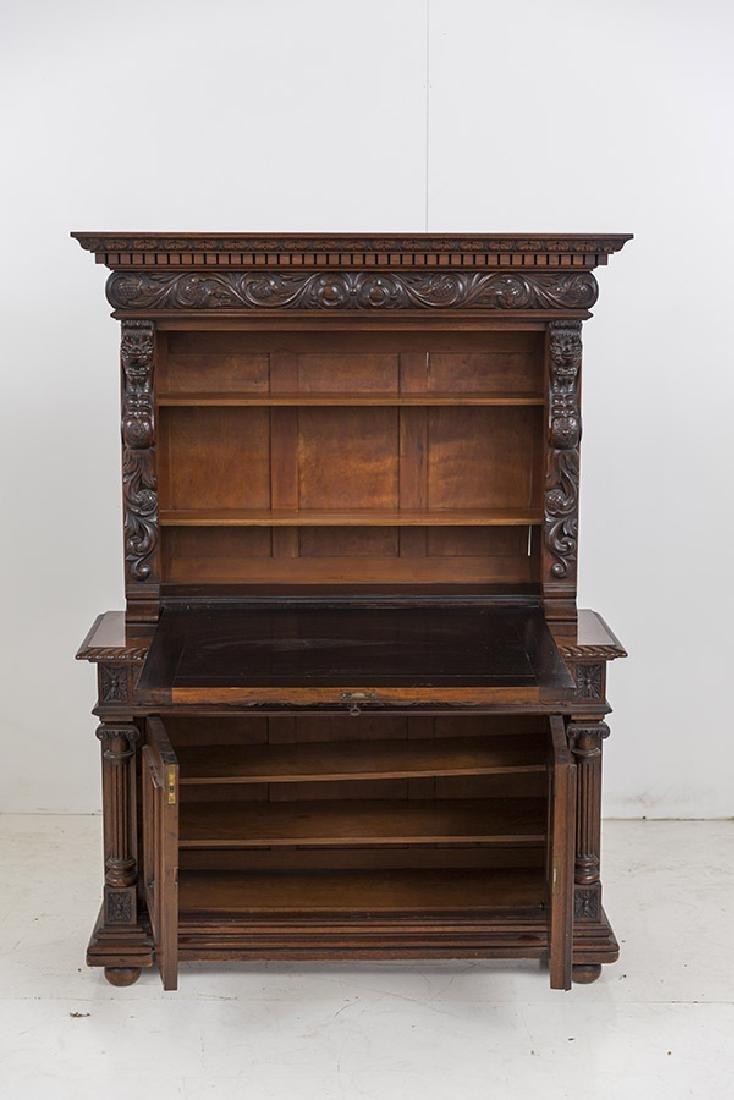 Heavily Carved Oak Cabinet - 6
