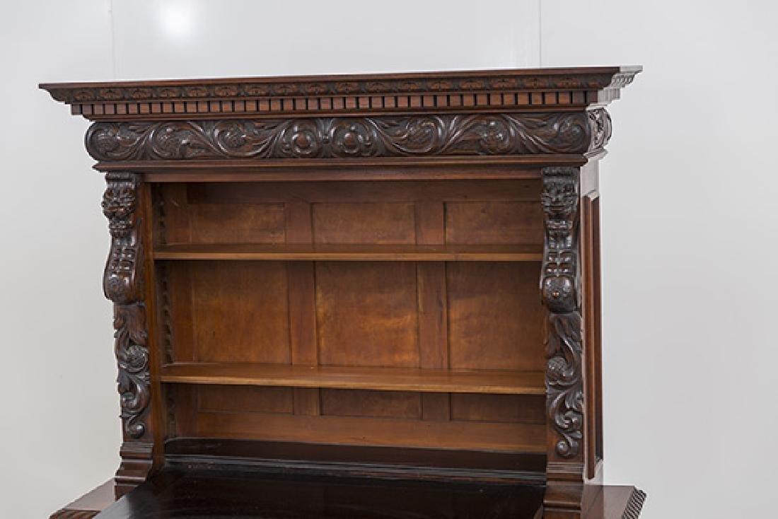 Heavily Carved Oak Cabinet - 7