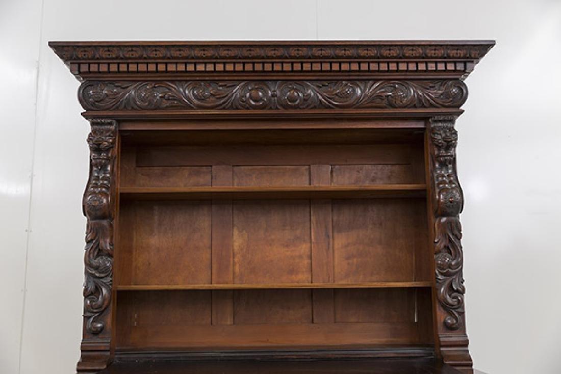 Heavily Carved Oak Cabinet - 9