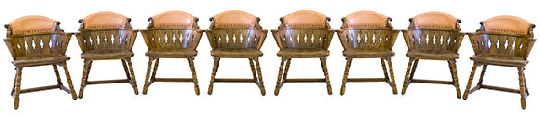 Romweber Viking Oak Captain's Chairs