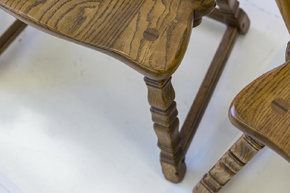 Romweber Viking Oak Captain's Chairs - 4