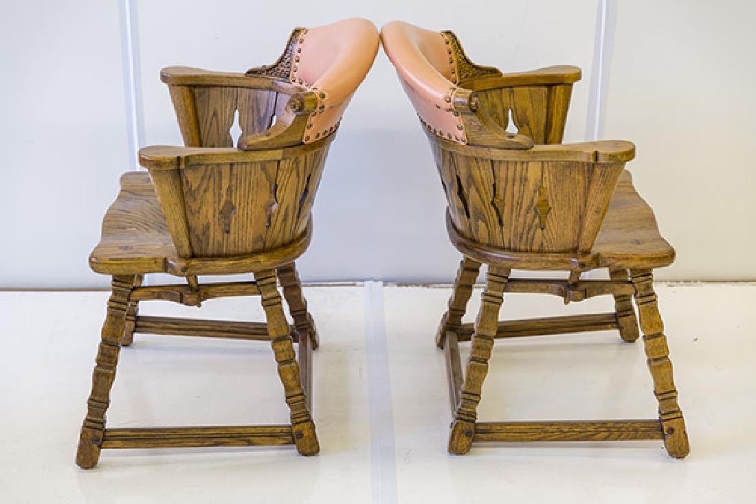 Romweber Viking Oak Captain's Chairs - 8