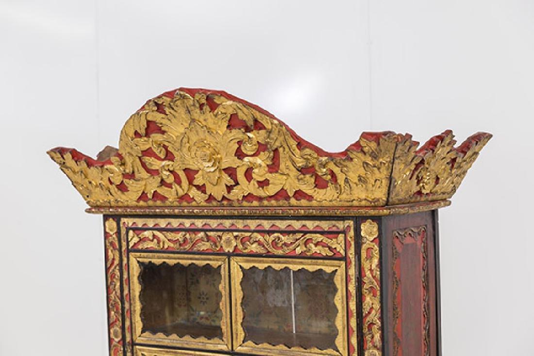 Lemari Palembang Carved Wood Cabinet - 3