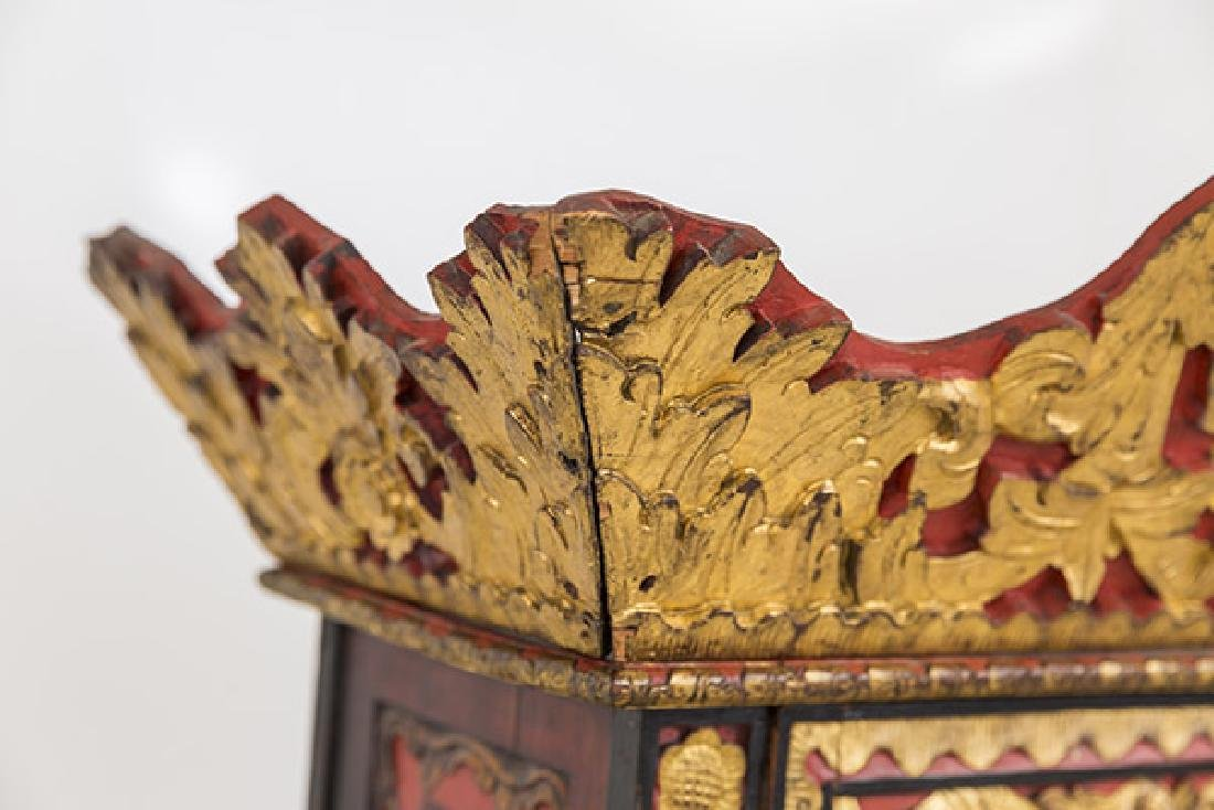 Lemari Palembang Carved Wood Cabinet - 4