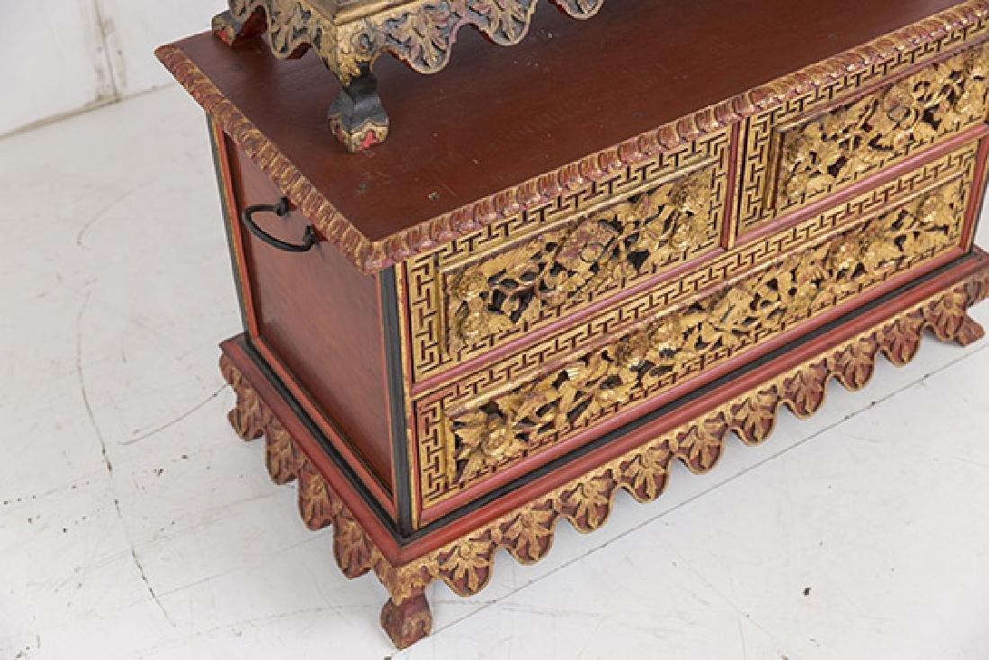 Lemari Palembang Carved Wood Cabinet - 5