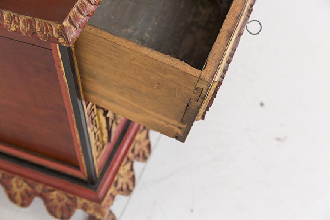 Lemari Palembang Carved Wood Cabinet - 6