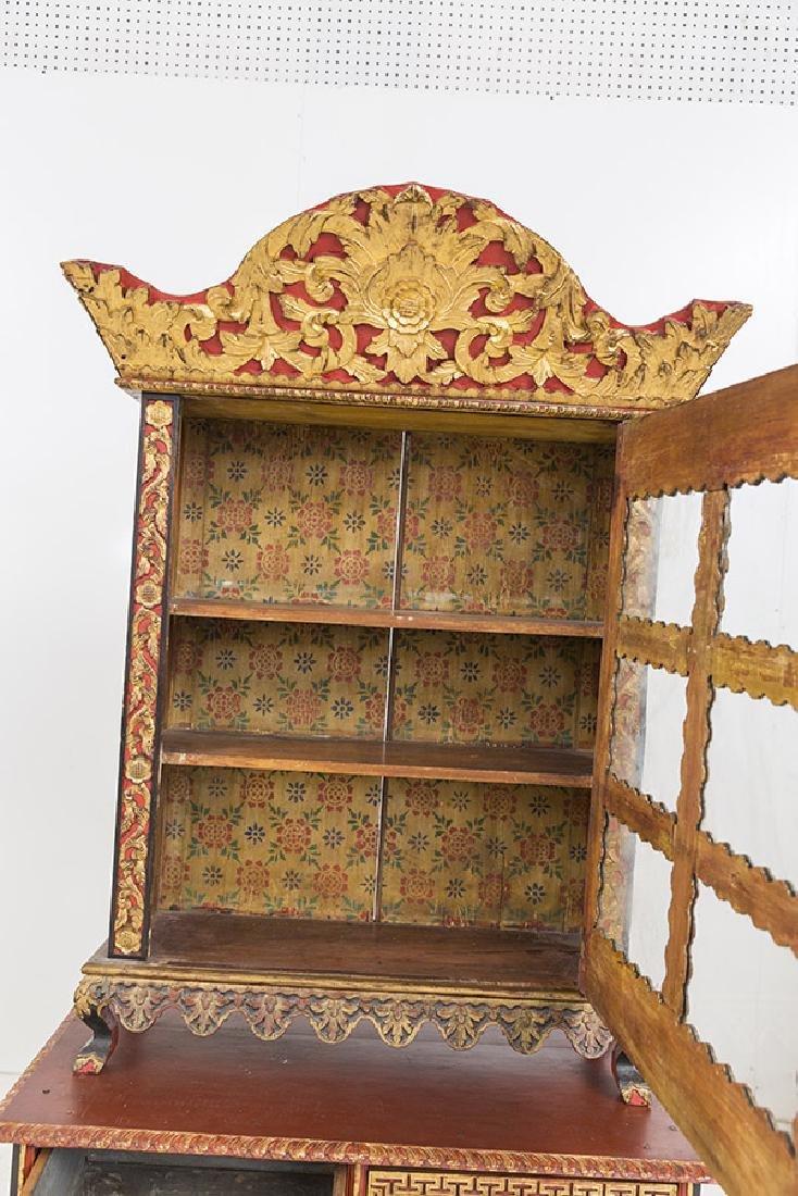 Lemari Palembang Carved Wood Cabinet - 8