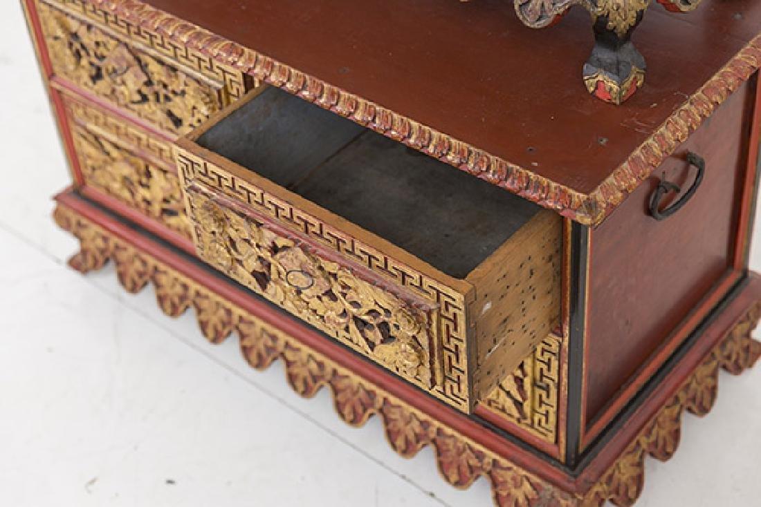Lemari Palembang Carved Wood Cabinet - 9