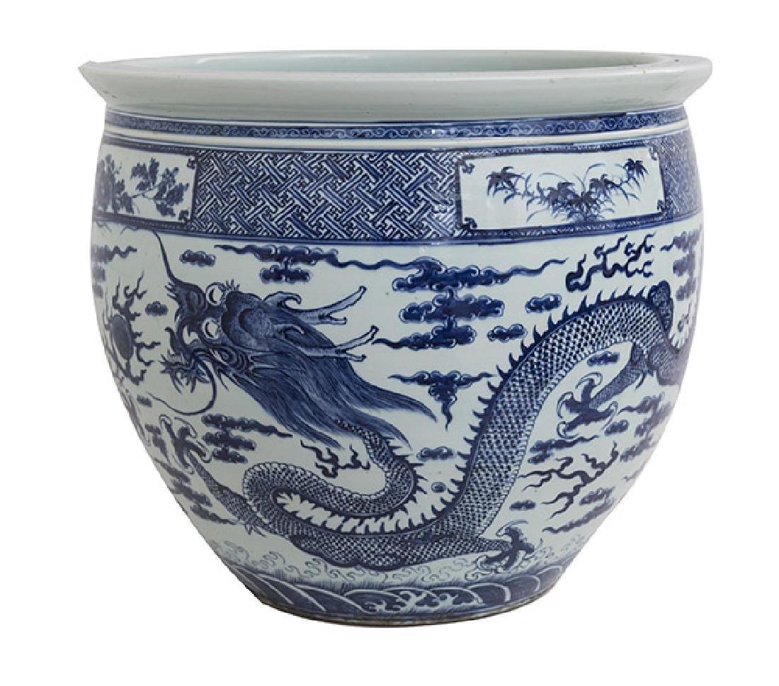 19th Century Chinese Export Imari Fish Bowl
