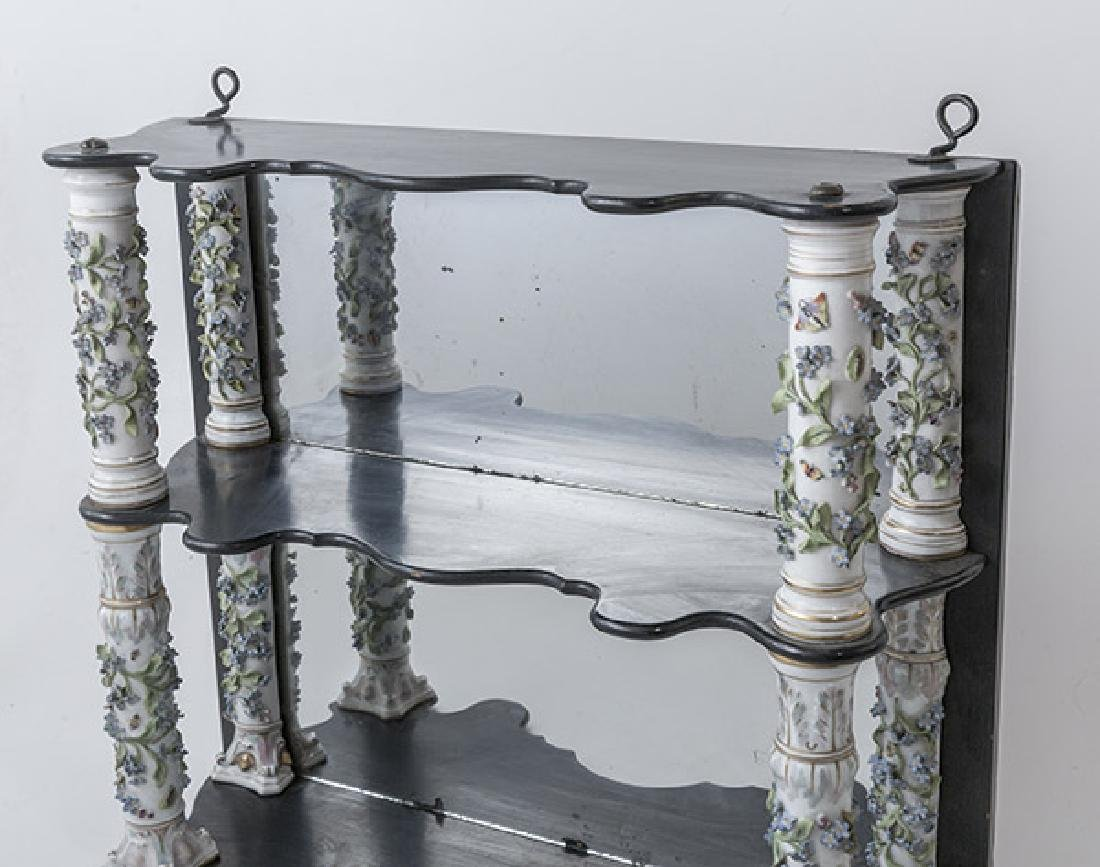 Antique Dresden Mirrored Wall Shelves - 2