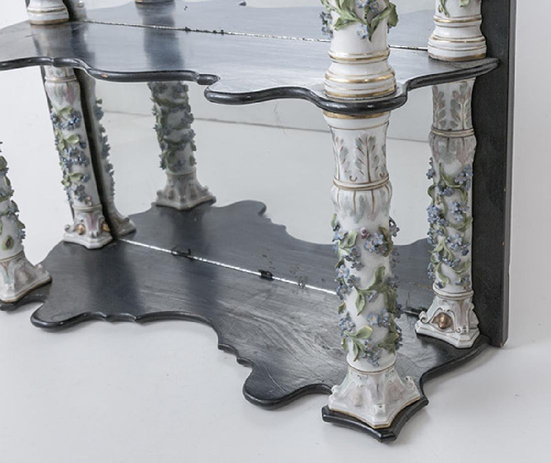 Antique Dresden Mirrored Wall Shelves - 3