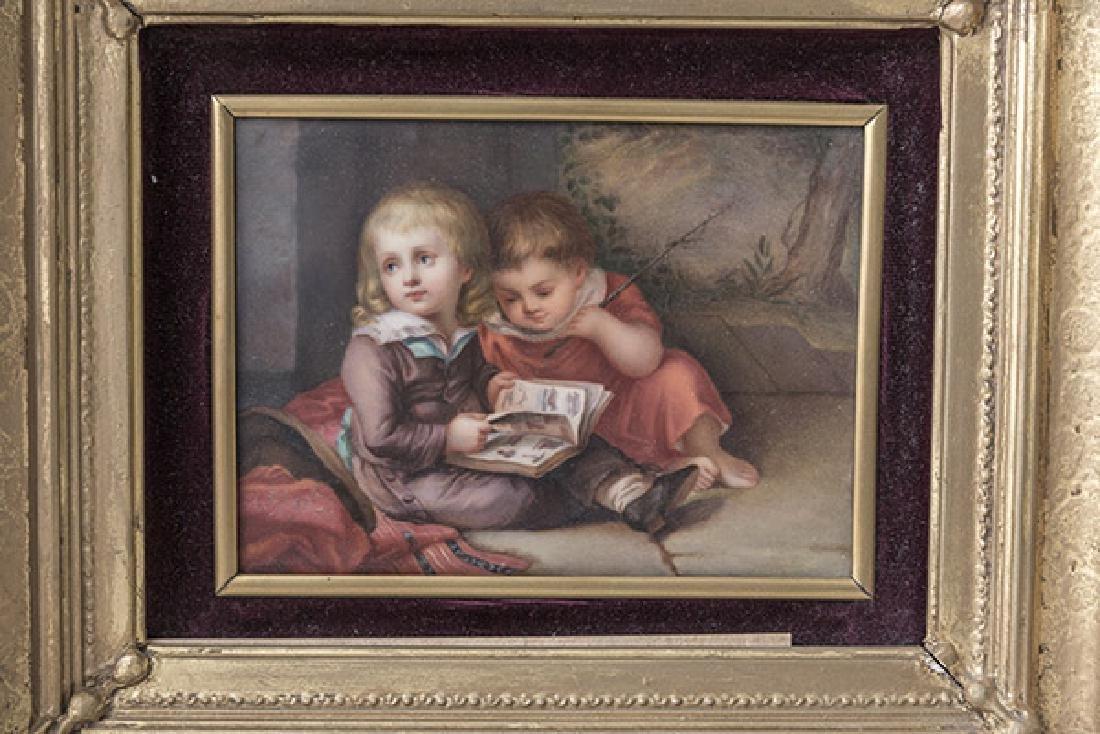 KPM Porcelain Plaque Depicting Children - 2