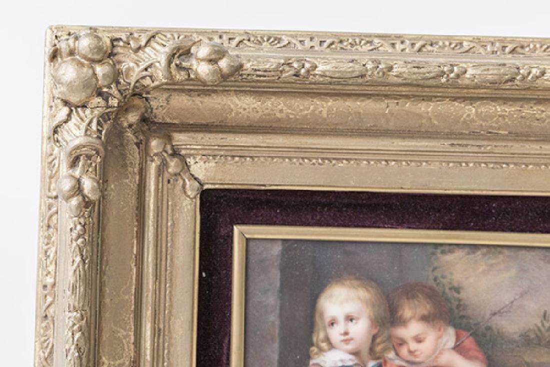KPM Porcelain Plaque Depicting Children - 3