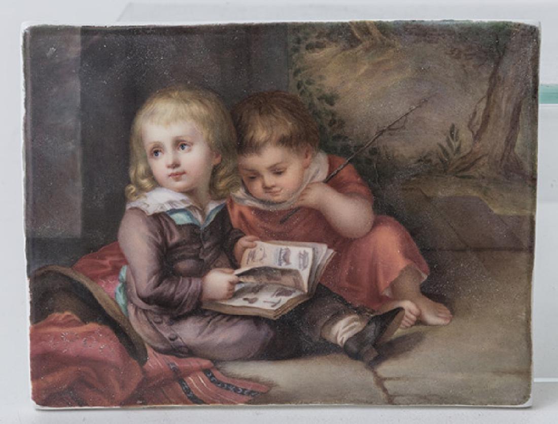 KPM Porcelain Plaque Depicting Children - 6