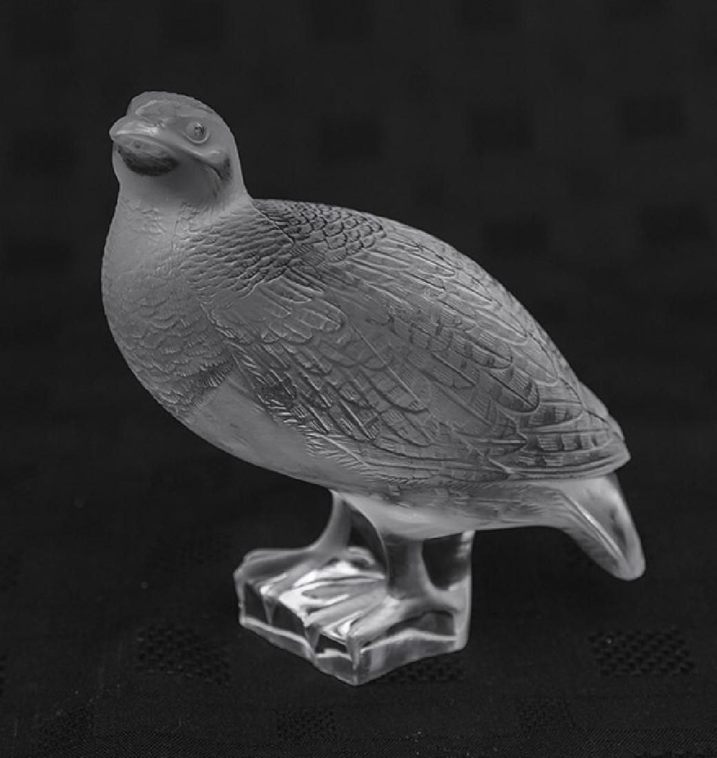 Lalique Quail Figurine