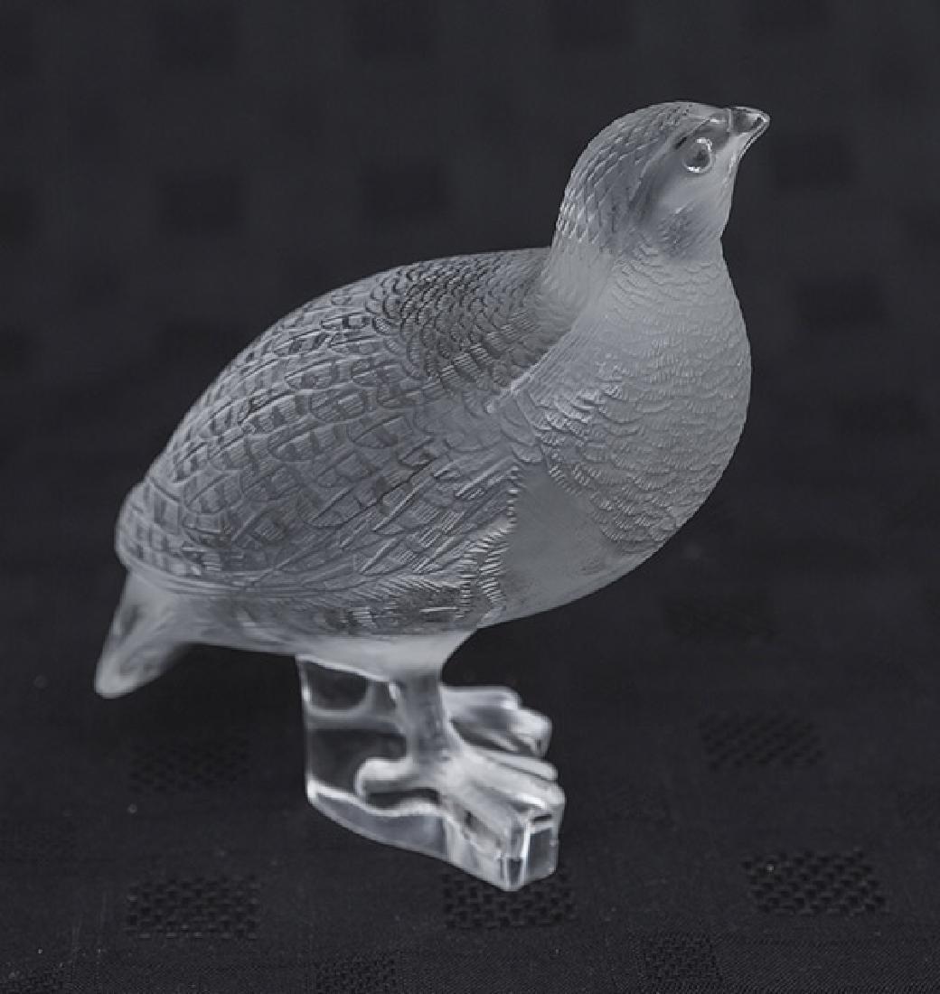 Lalique Quail Figurine - 2