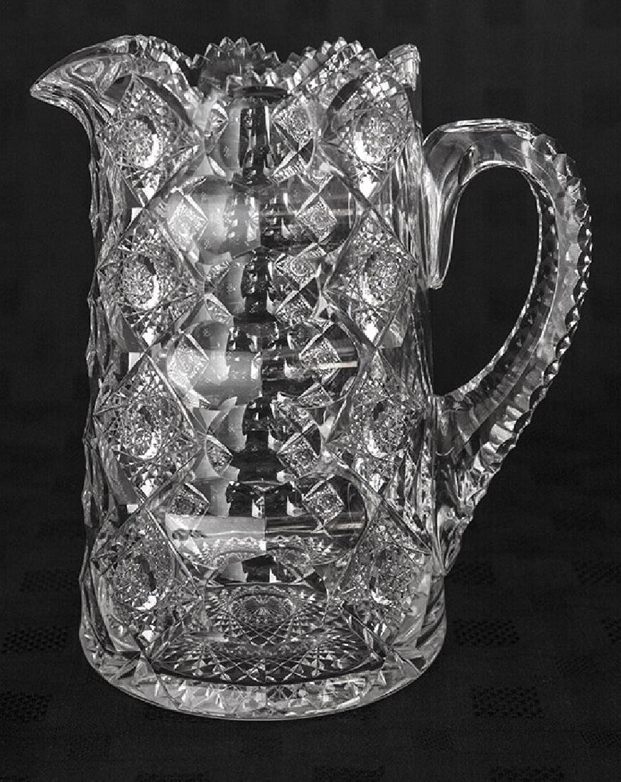 "ABCG 8 1/2"" Signed Hawkes Queens Pattern Pitcher"
